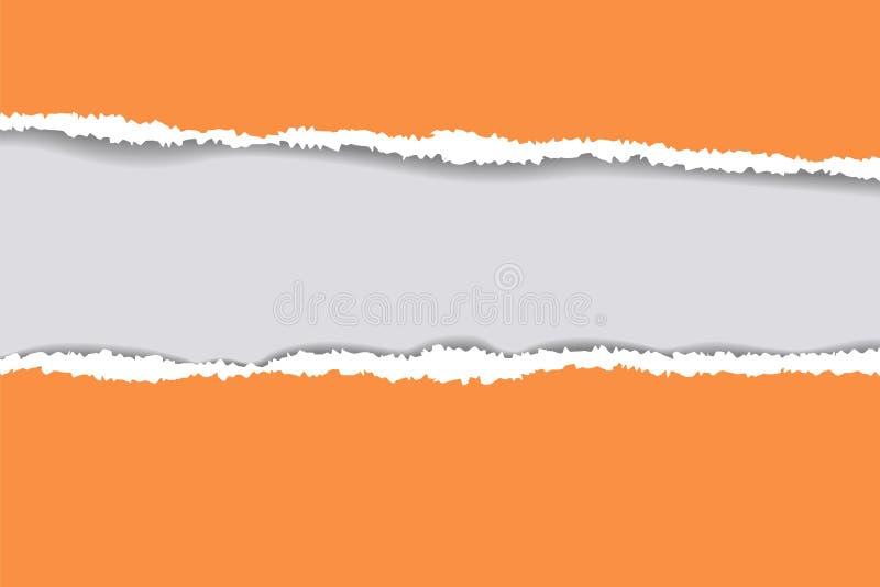 Fundo de papel rasgado com espaço para o texto Projete o vetor do molde da ilustração para a bandeira do página da web, feed noti ilustração do vetor