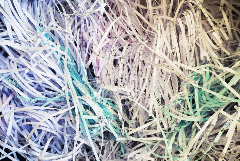 Fundo de papel Shredded fotografia de stock