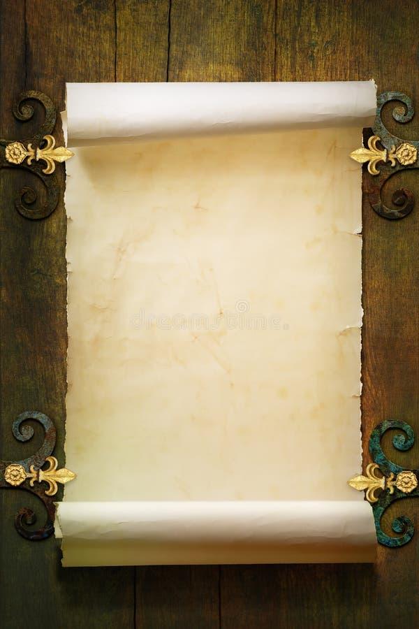 Fundo de papel velho do rolo imagens de stock