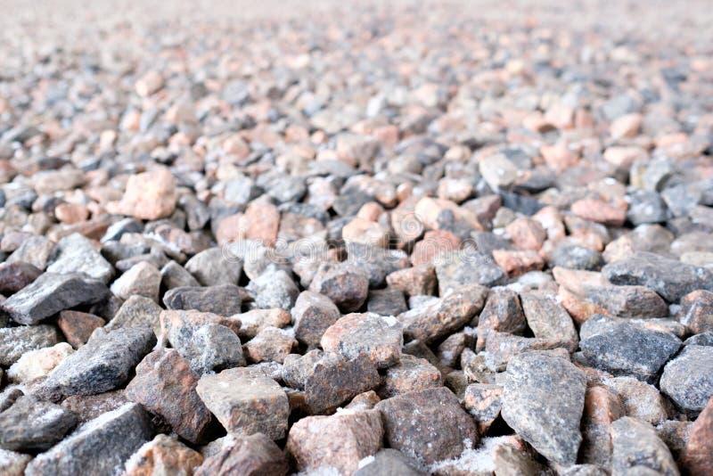 Fundo de pedra esmagado fotografia de stock