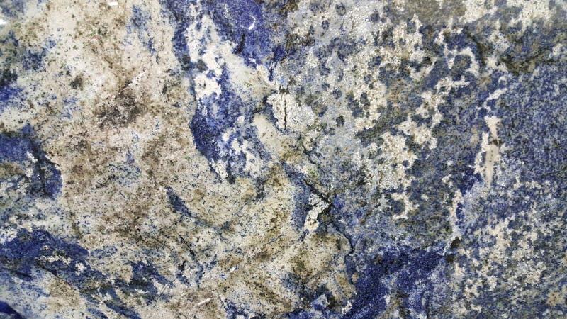 Fundo de pedra metálico azul e branco do Sodalite e imagem de stock