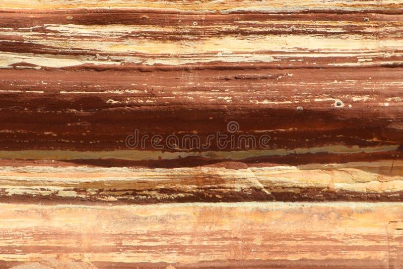 Fundo de pedra natural horizontalmente listrado da textura Formação de rocha no parque nacional de Kalbarri, Austrália Ocidental imagem de stock