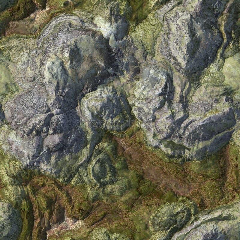 Fundo de pedra sem emenda do terreno ilustração stock
