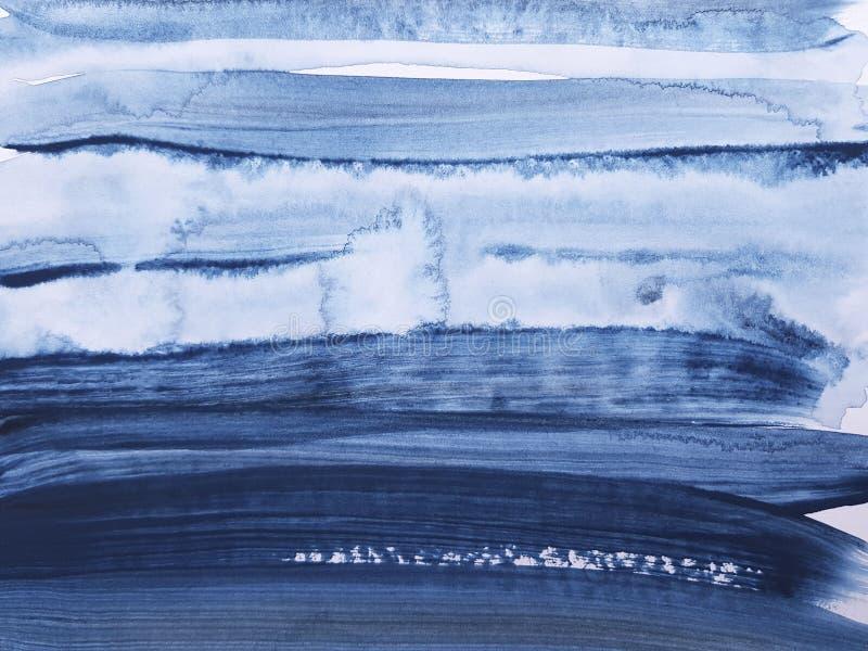 Fundo de pintura da arte azul abstrata fotos de stock royalty free