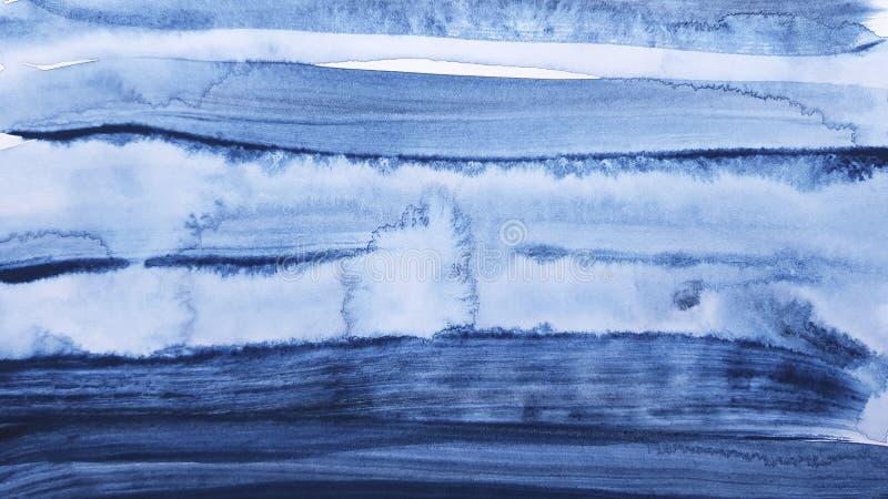 Fundo de pintura da arte azul abstrata foto de stock
