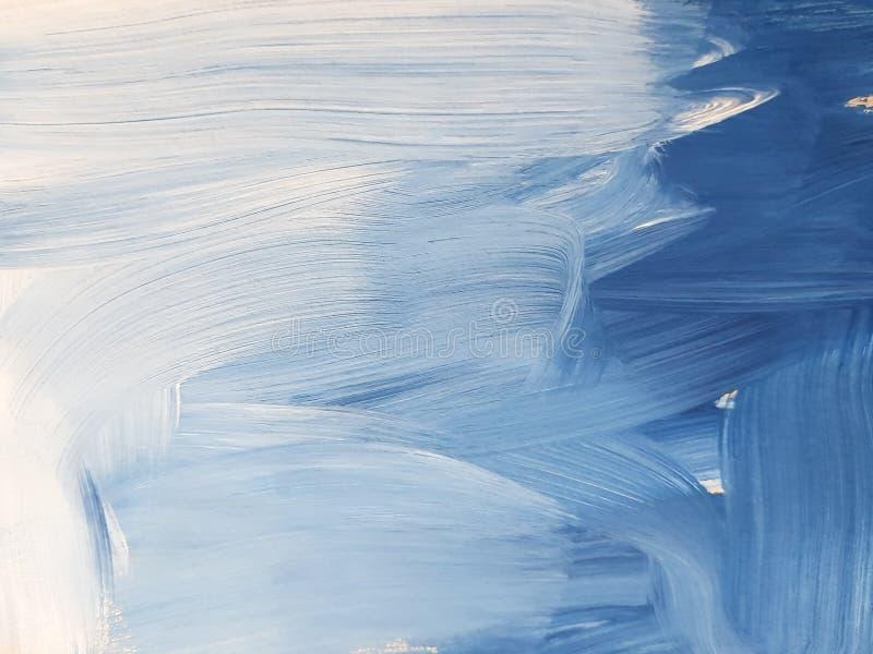 Fundo de pintura da arte azul abstrata imagens de stock