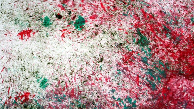 Fundo de pintura romântico branco verde vermelho da aquarela, fundo de pintura abstrato da aquarela imagens de stock royalty free