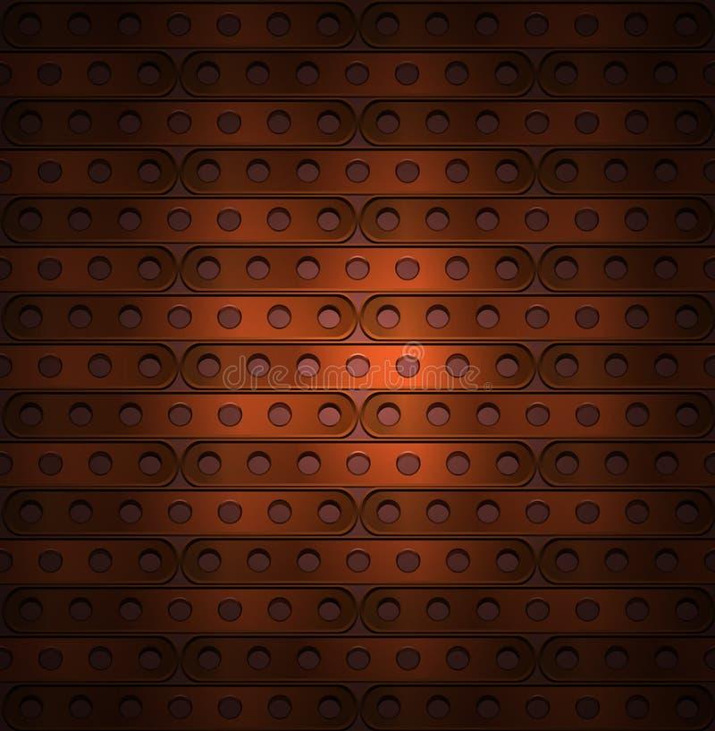 Fundo de placas longas no steampunk ilustração stock