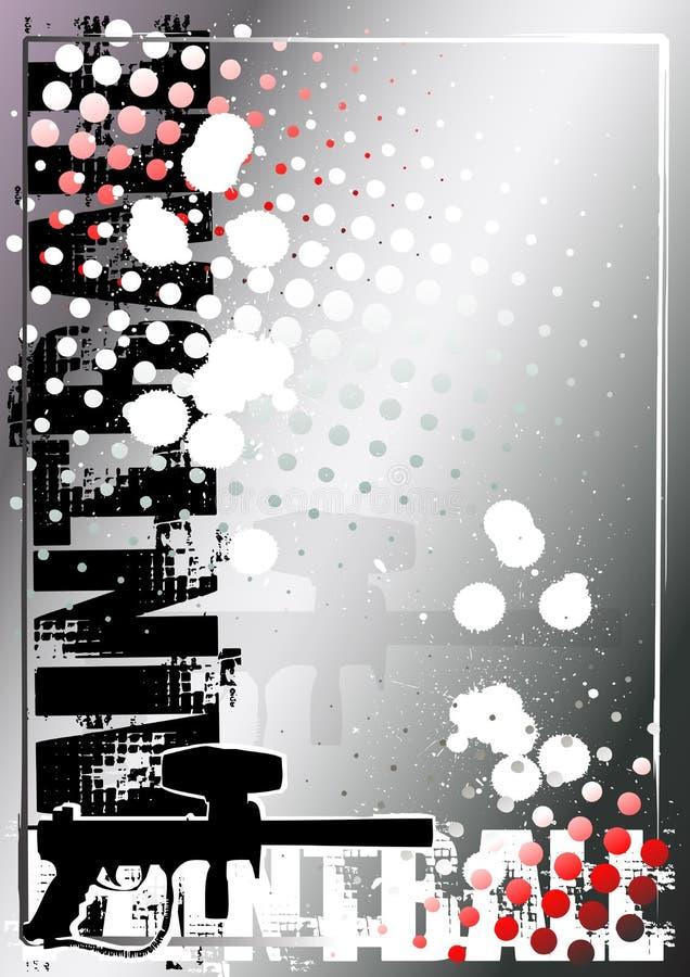 Fundo de prata 2 do poster do Paintball ilustração stock