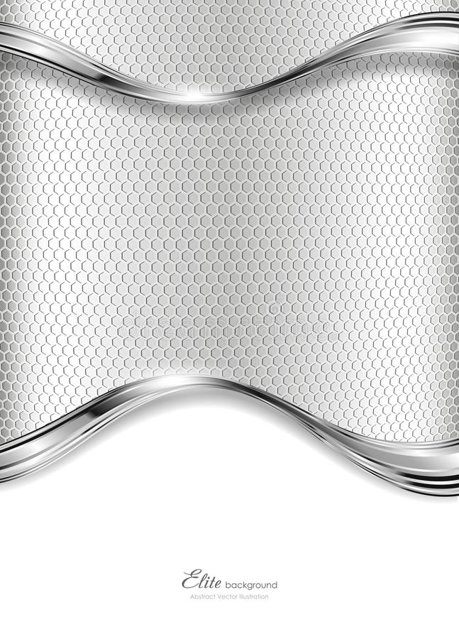Fundo de prata abstrato da tecnologia ilustração do vetor