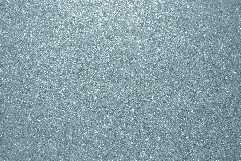 Fundo de prata abstrato da textura do brilho Grão de prata de brilho ou partículas de brilho com fundo efervescente FO do efeito  imagem de stock