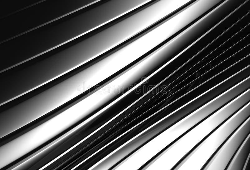 Fundo de prata abstrato de alumínio do teste padrão da listra ilustração stock
