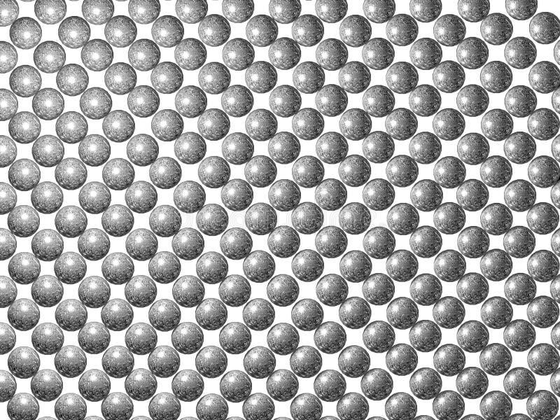 Fundo de prata das esferas imagens de stock