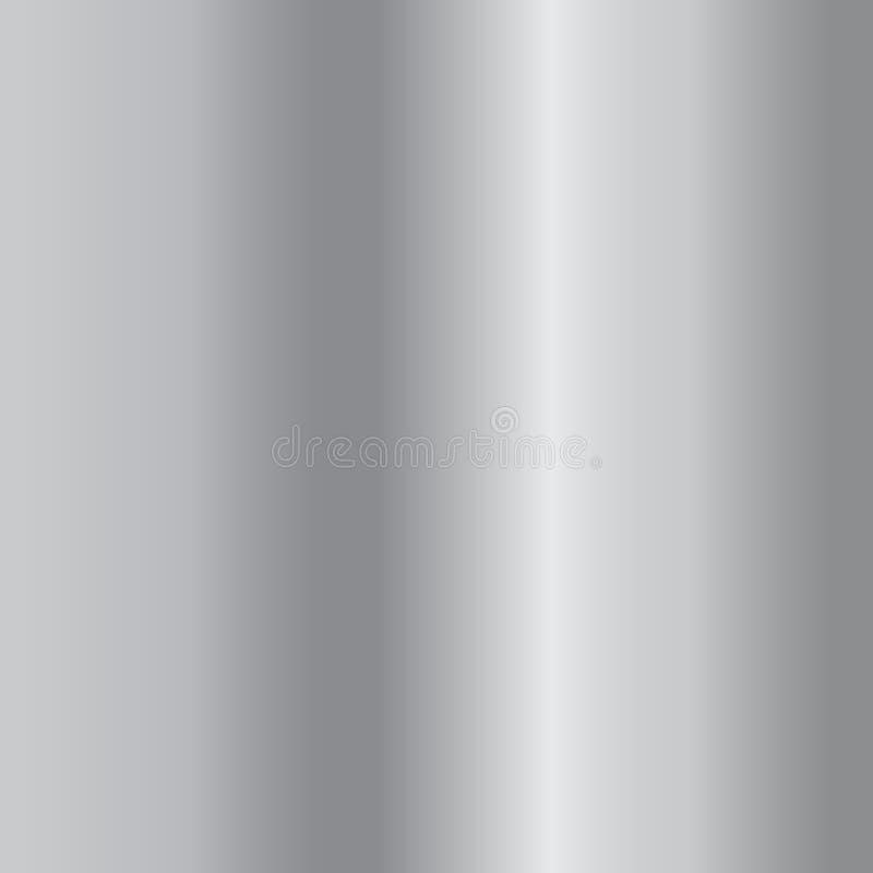 Fundo de prata do inclinação Textura de prata do projeto para a fita, quadro, bandeira Molde de prata abstrato do inclinação Meta ilustração royalty free