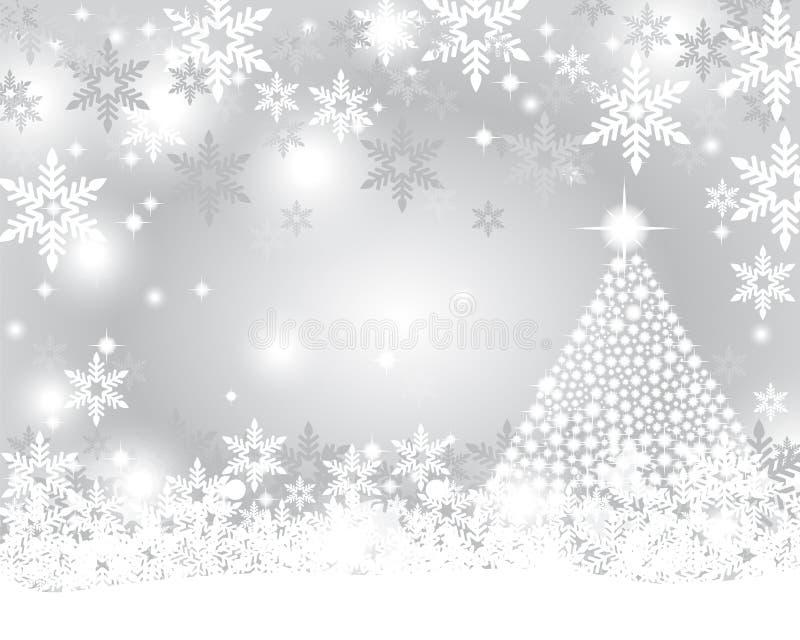 Fundo de prata do Natal ilustração stock