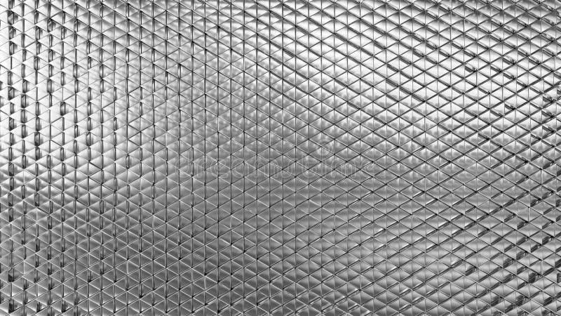 Fundo de prata geométrico do sumário dos triângulos pequenos ilustração stock