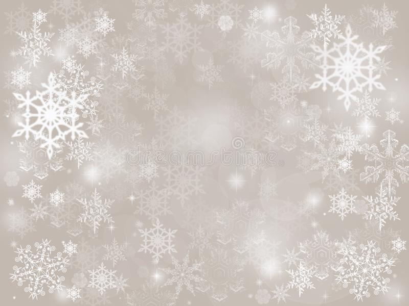 Fundo de queda do feriado do Natal do inverno da neve abstrata de prata do bokeh imagens de stock