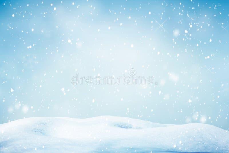 Fundo de queda do inverno da neve foto de stock