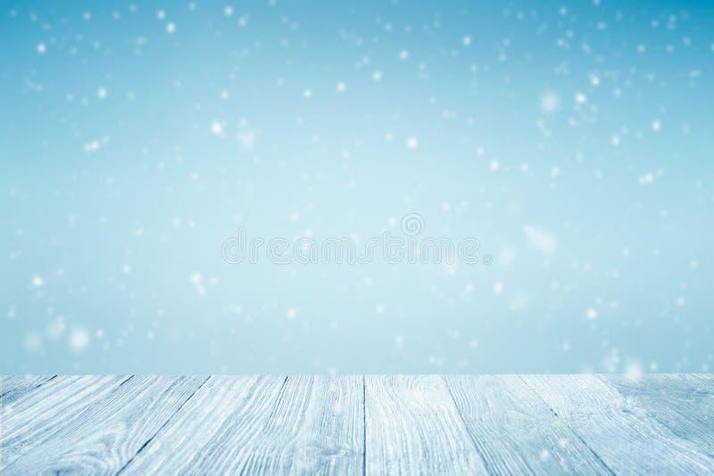 Fundo de queda do inverno da neve imagem de stock royalty free