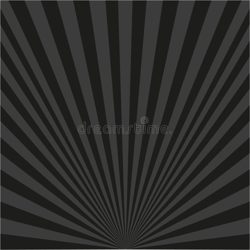 Fundo de raios pretos ilustração do vetor