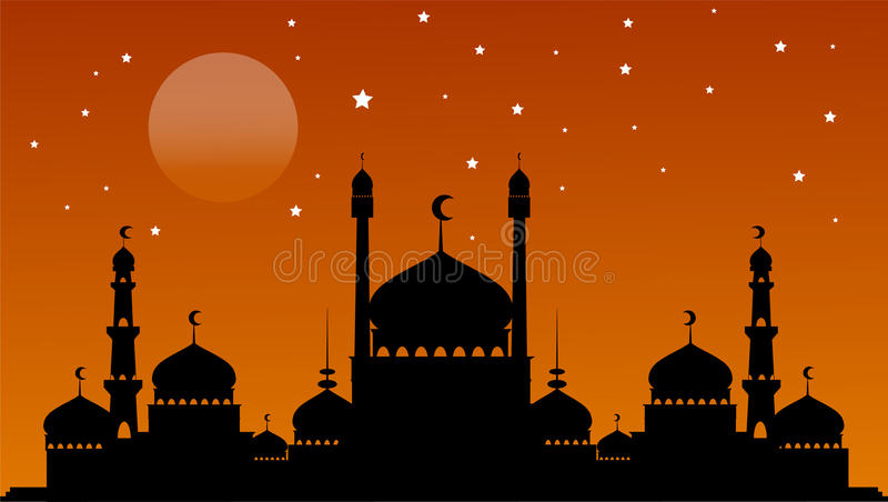 Fundo de Ramadan Kareem ilustração stock