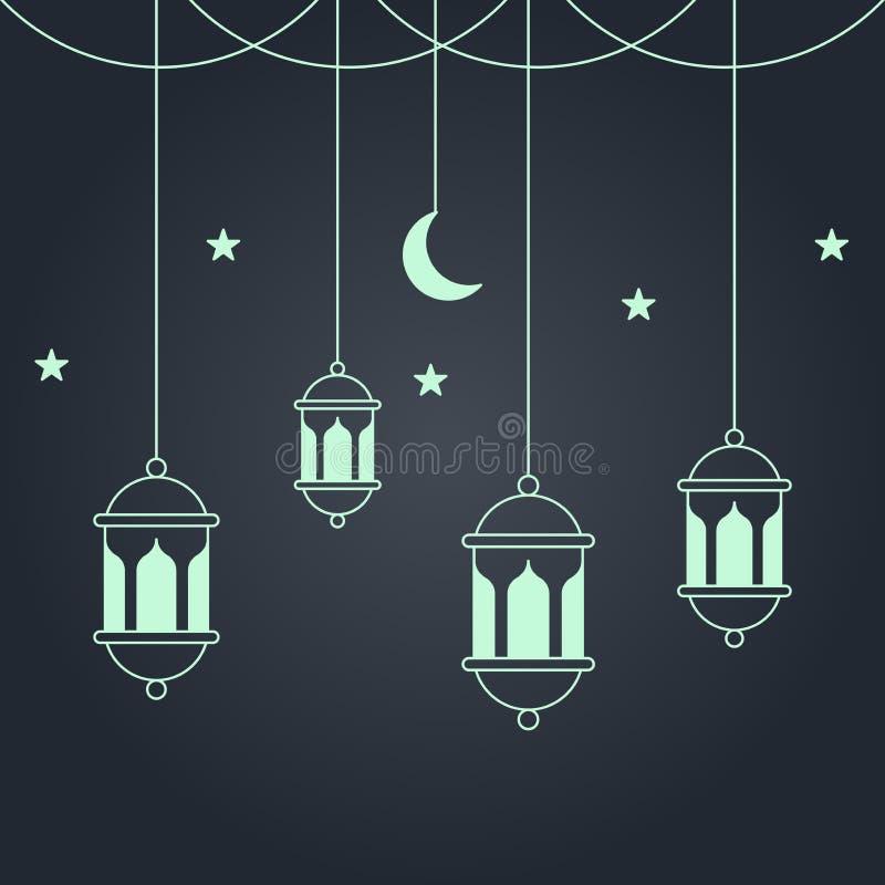 Fundo de Ramadan ilustração stock