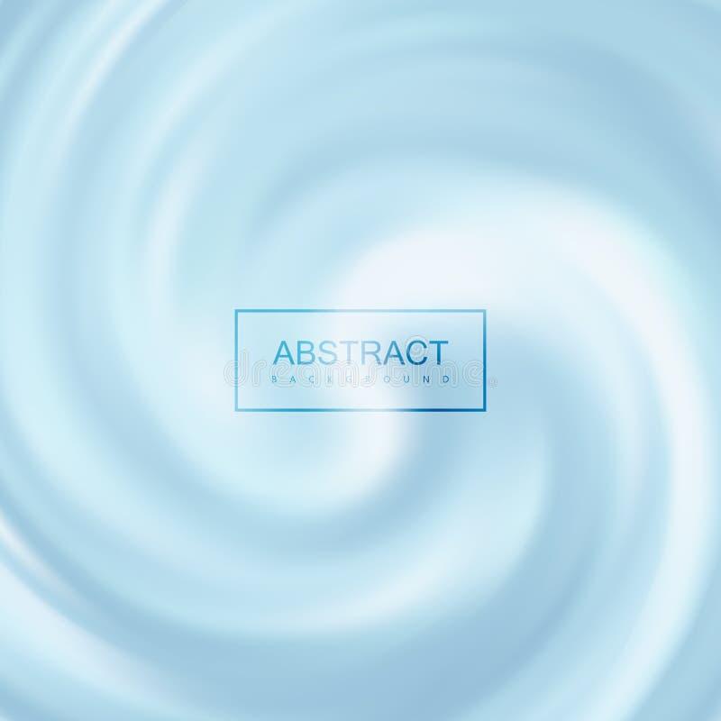 Fundo de roda cremoso azul ilustração stock