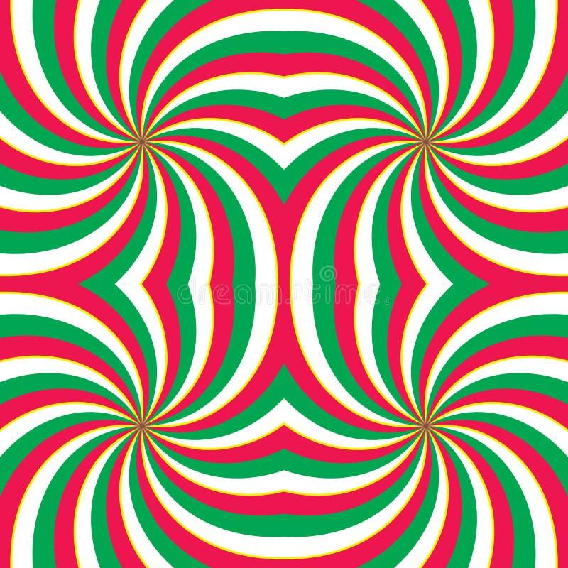 Fundo de roda hipnótico ilustração royalty free