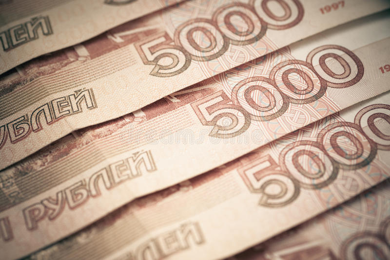 Fundo de rublos de russo. imagens de stock royalty free
