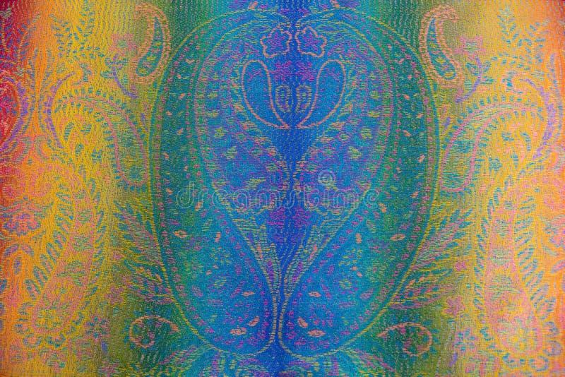 Fundo de seda do teste padrão do batik foto de stock