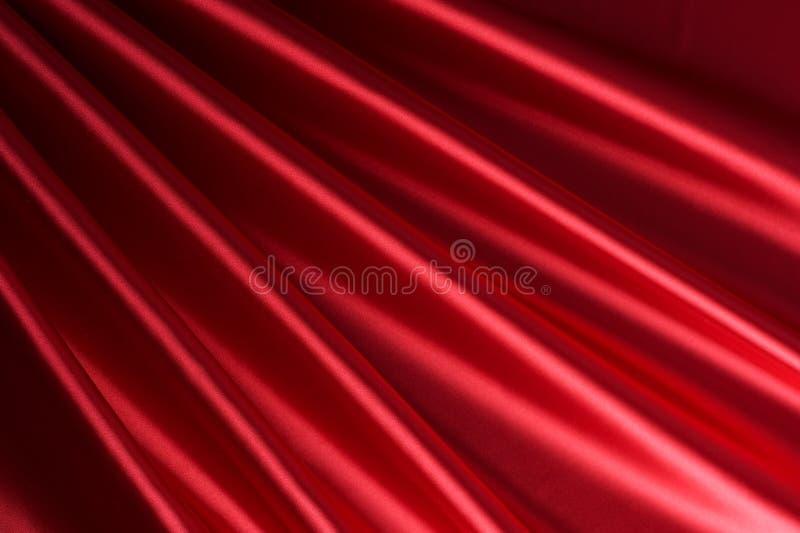 Fundo de seda vermelho foto de stock