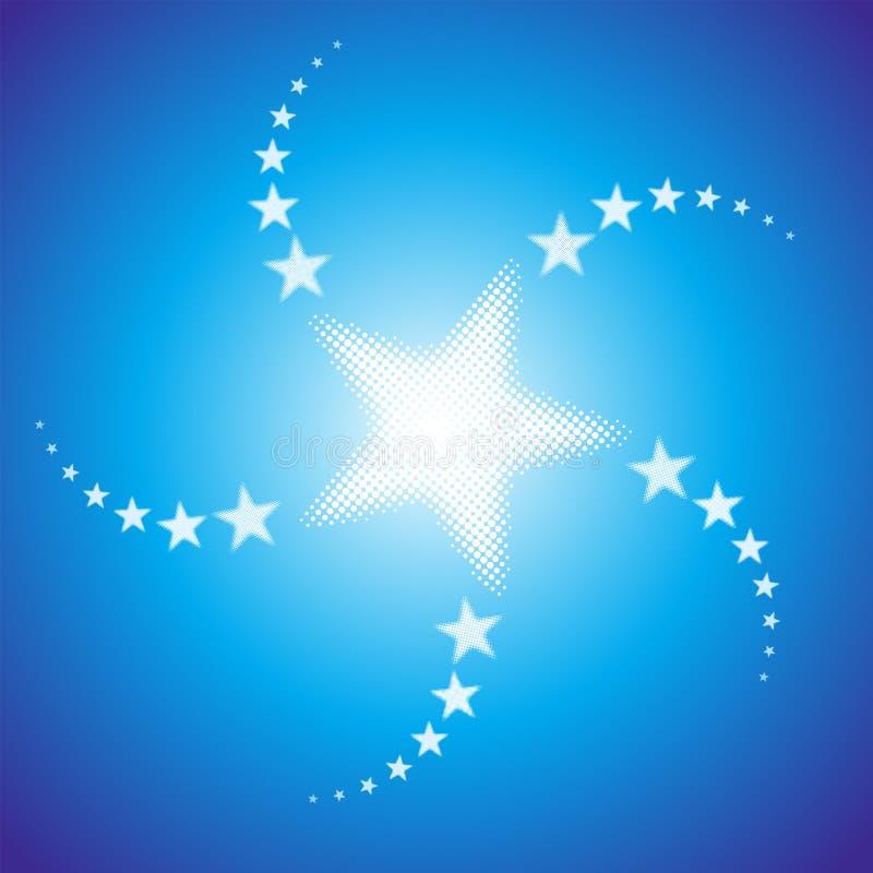 Fundo de Starburst ilustração royalty free