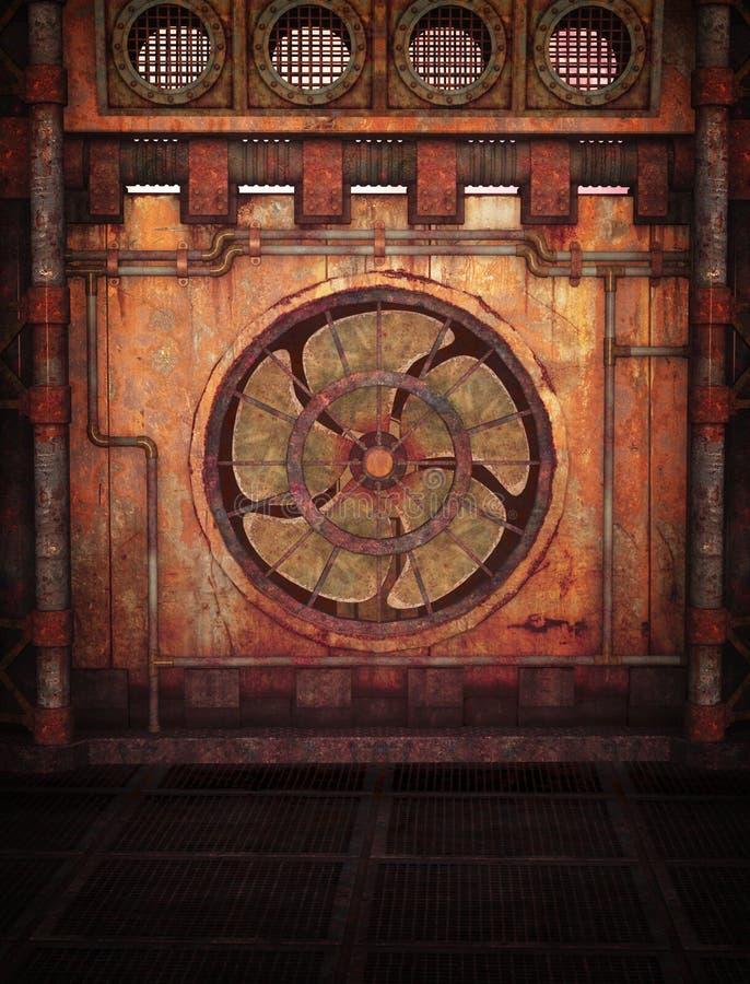 Fundo de Steampunk ilustração do vetor