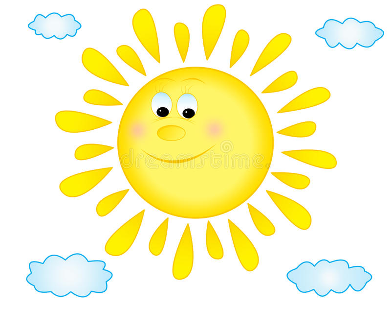Fundo de Sun ilustração royalty free