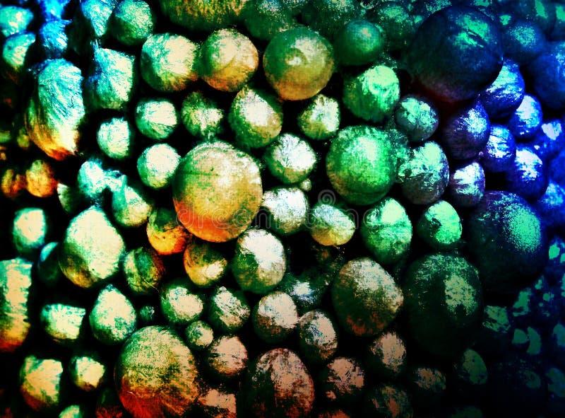 Fundo de superfície das bolas bulby incomuns coloridas interessantes imagens de stock