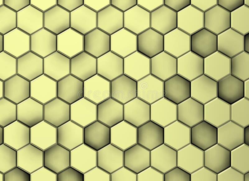 Fundo de superfície decorativo amarelado em níveis diferentes ilustração do vetor