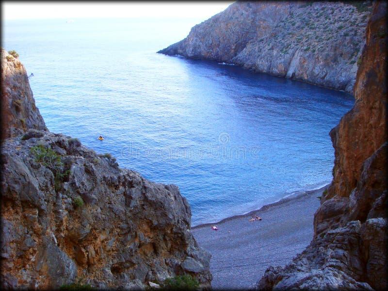 Fundo de surpresa da praia de Agiofarago fotos de stock royalty free