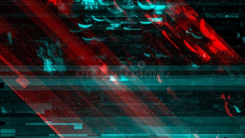Fundo de tecnologia moderna, falha digital abstrata cibernética ilustração stock