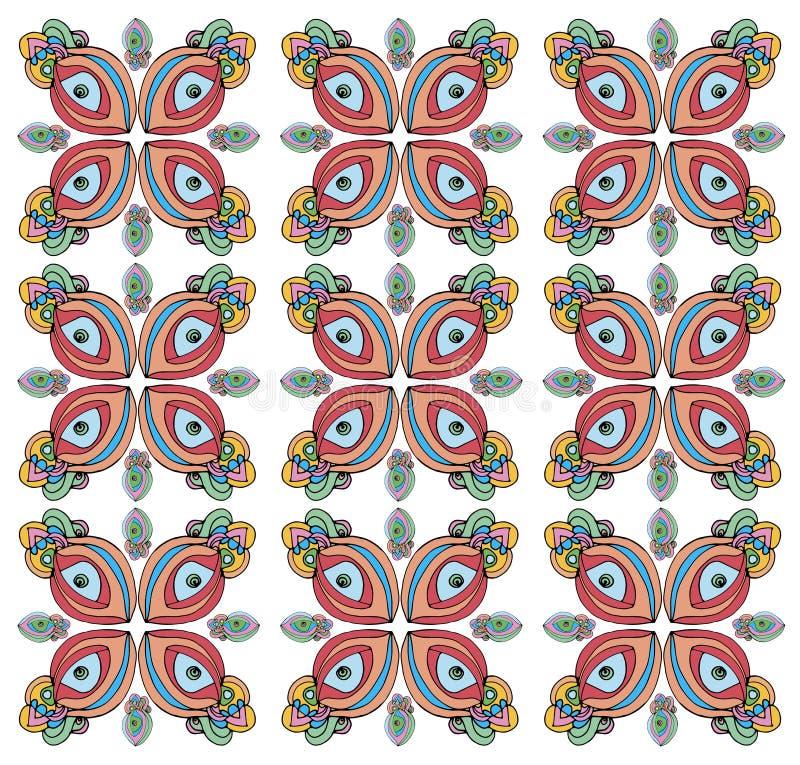 Fundo de testes padrões de olho com pálpebras vermelhas ilustração royalty free