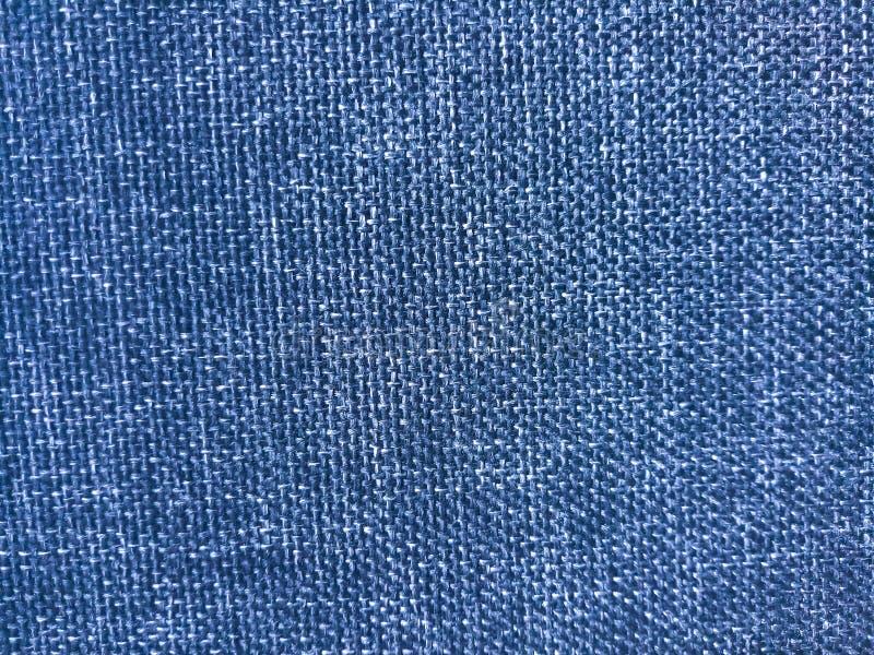 Fundo de textura do material do pano grosso de cor azul, imagem de fechamento imagem de stock royalty free