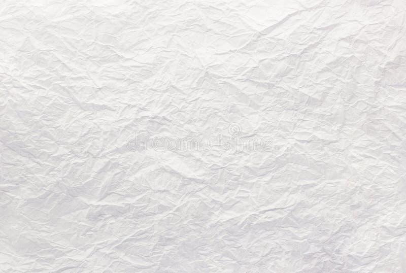 Fundo de textura de papel amassado, próximo a branco,abstrato fotos de stock