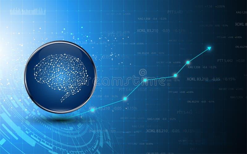 Fundo de troca do conceito do negócio da inteligência da tecnologia de mercado de valores de ação olá! ilustração do vetor