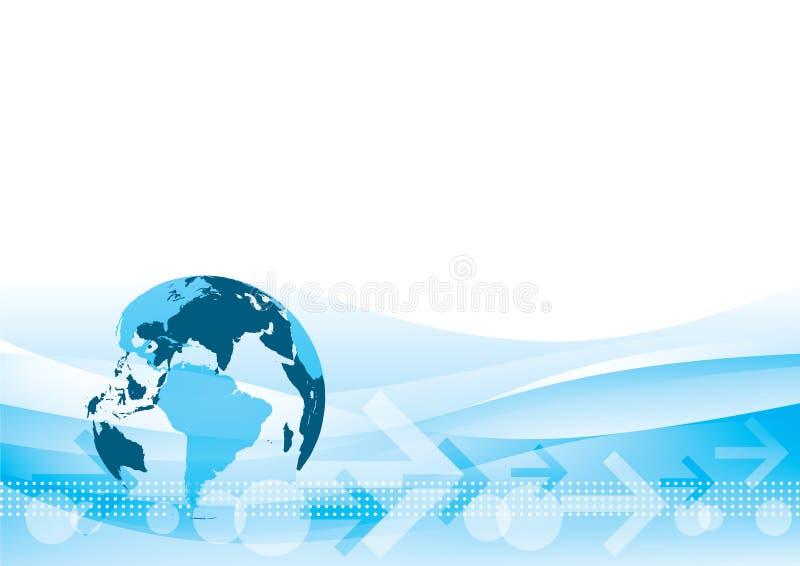 Fundo de troca do mundo ilustração royalty free