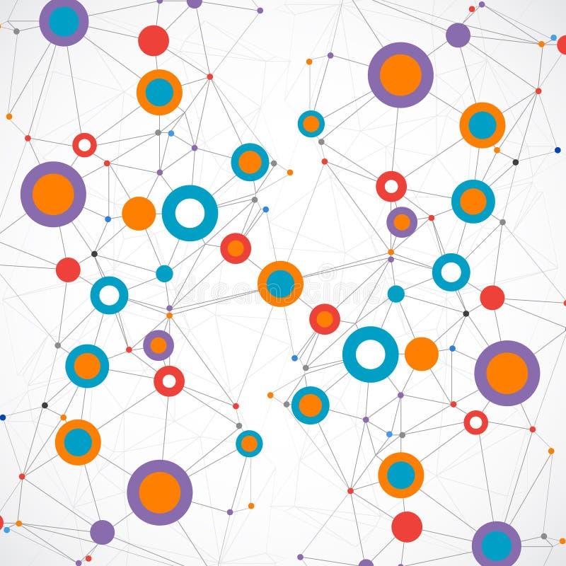 Fundo de uma comunicação da tecnologia da cor da rede ilustração royalty free