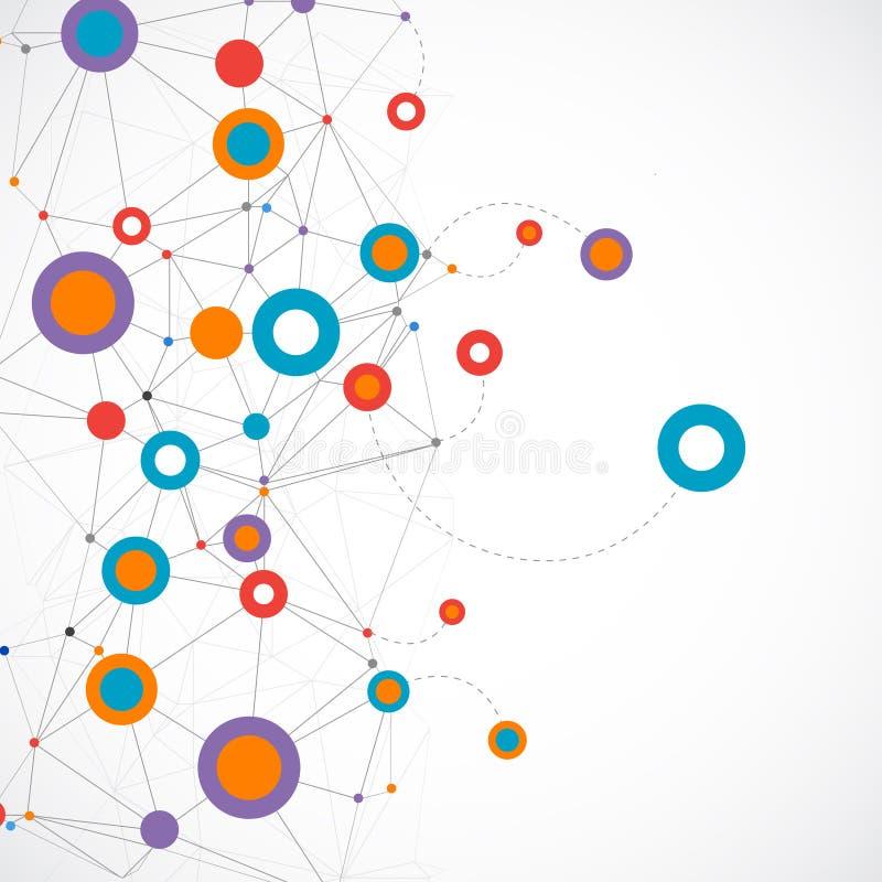 Fundo de uma comunicação da tecnologia da cor da rede ilustração do vetor
