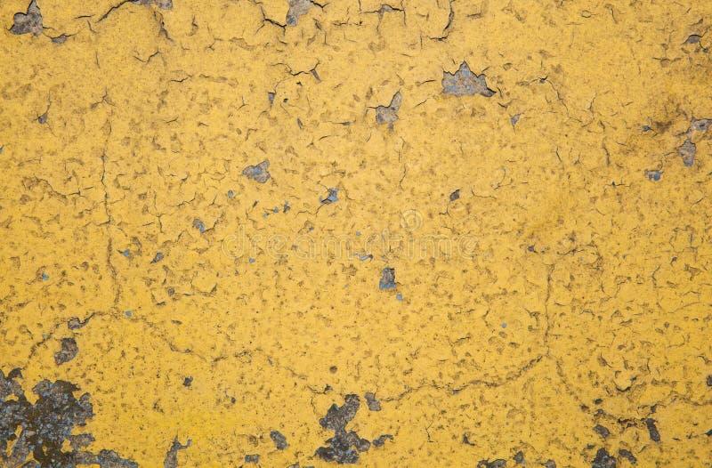 Parede amarela velha imagens de stock royalty free