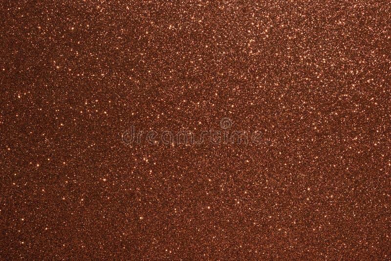 Fundo de Valentine Day Brown Glitter do ano novo do Natal Tela abstrata da textura do feriado Elemento, flash imagem de stock