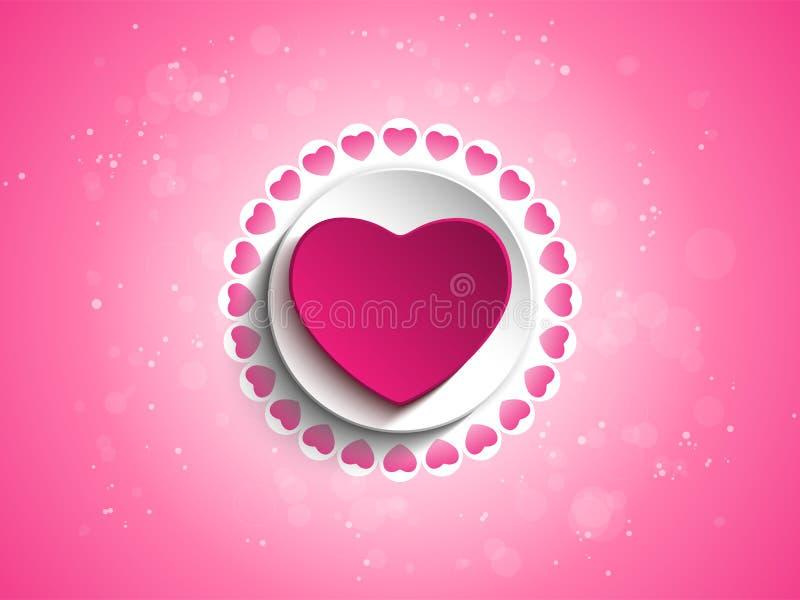 Fundo de Valentine Day Love Heart Pink ilustração do vetor