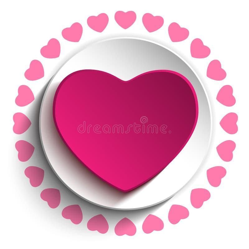 Fundo de Valentine Day Love Heart Pink ilustração royalty free