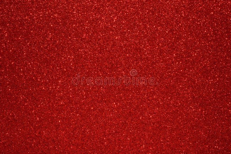 Fundo de Valentine Day Red Glitter do ano novo do Natal Tela abstrata da textura do feriado Elemento, flash fotografia de stock